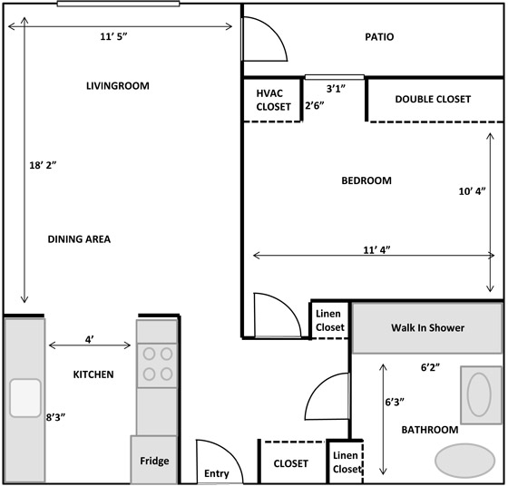 Frontier Estates Typical Apartment Layout